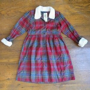 NWT Ralph Lauren Flannel and Fur Dress
